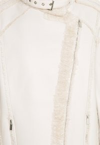 Missguided Tall - PREMIUM BELTED AVIATOR - Faux leather jacket - cream - 6