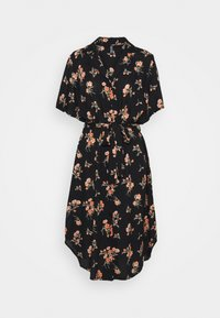 PCTRINA SHIRT MIDI DRESS - Shirt dress - black