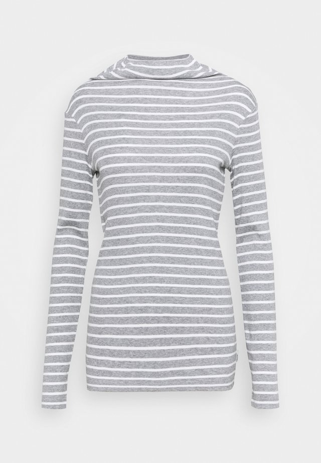 LONGSLEEVE TURTLENECK STRIPED - Longsleeve - multi/cloudy melange