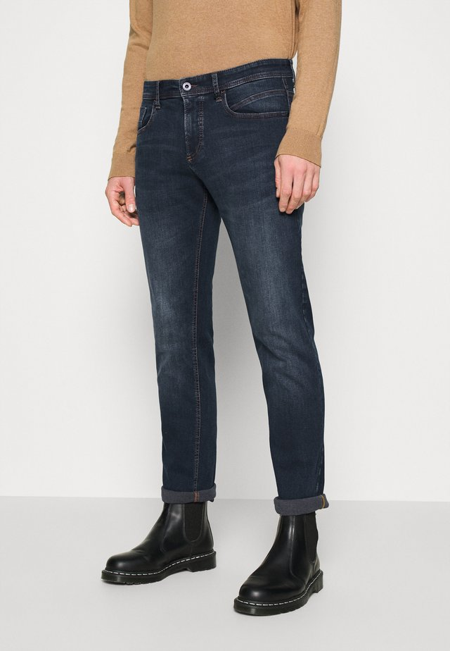 REGULAR - Straight leg jeans - blue od black