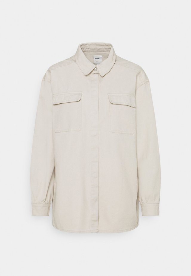ONLGISELLE LIFE OVERSIZE - Button-down blouse - pumice stone