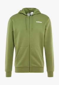 adidas Performance - ESSENTIALS SPORTS HOODED TRACK - Mikina na zip - tech olive - 4