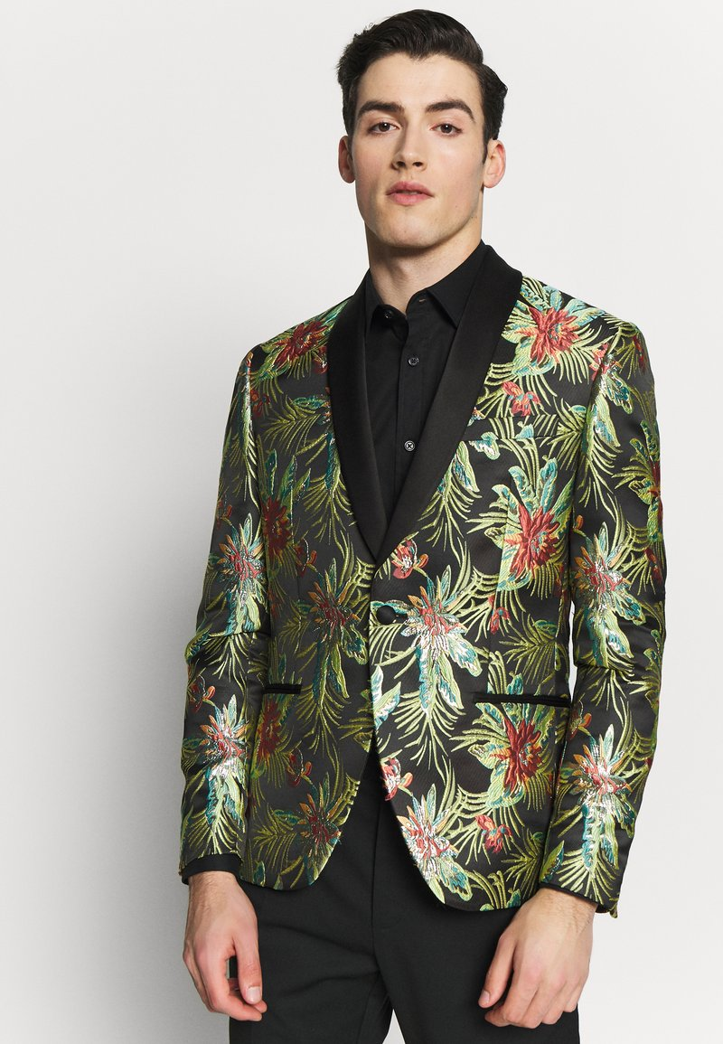 Isaac Dewhirst - FLORAL - Giacca - black