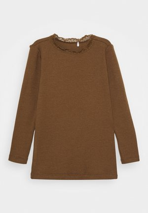 NMFREYA - Long sleeved top - coffee liqueúr