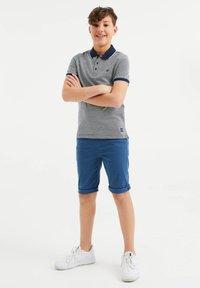 WE Fashion - MET VISGRAATDESSIN - Polo shirt - blue - 0