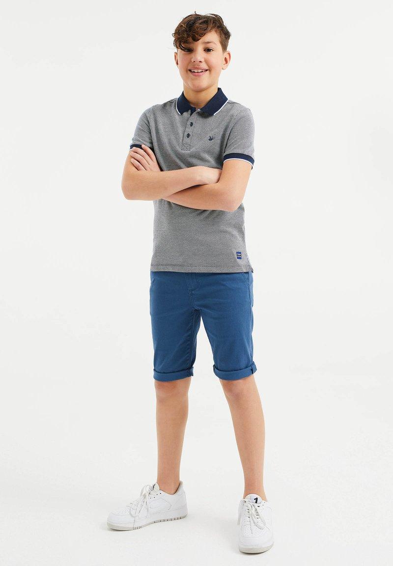 WE Fashion - MET VISGRAATDESSIN - Polo shirt - blue