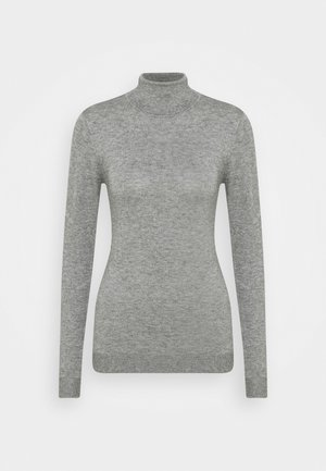 OBJTHESS ROLLNECK - Sweter - medium grey melange