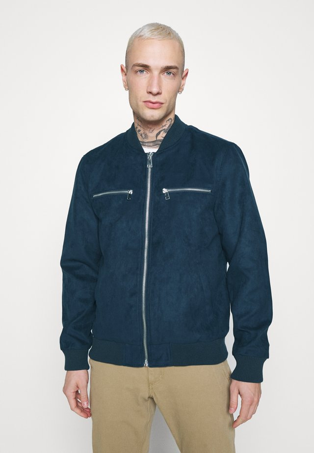 RRRAFAEL JACKET - Faux leather jacket - dark navy