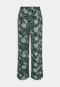ONLY - ONLNOVA PALAZZO PANT - Pantalon classique - balsam green/white - 5