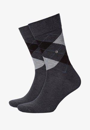 KING SO - Socks - mottled anthracite