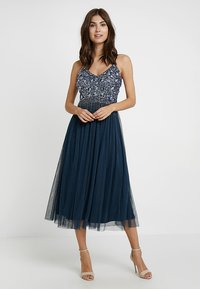Lace & Beads - RIRI MIDI - Cocktailkjole - navy - 3