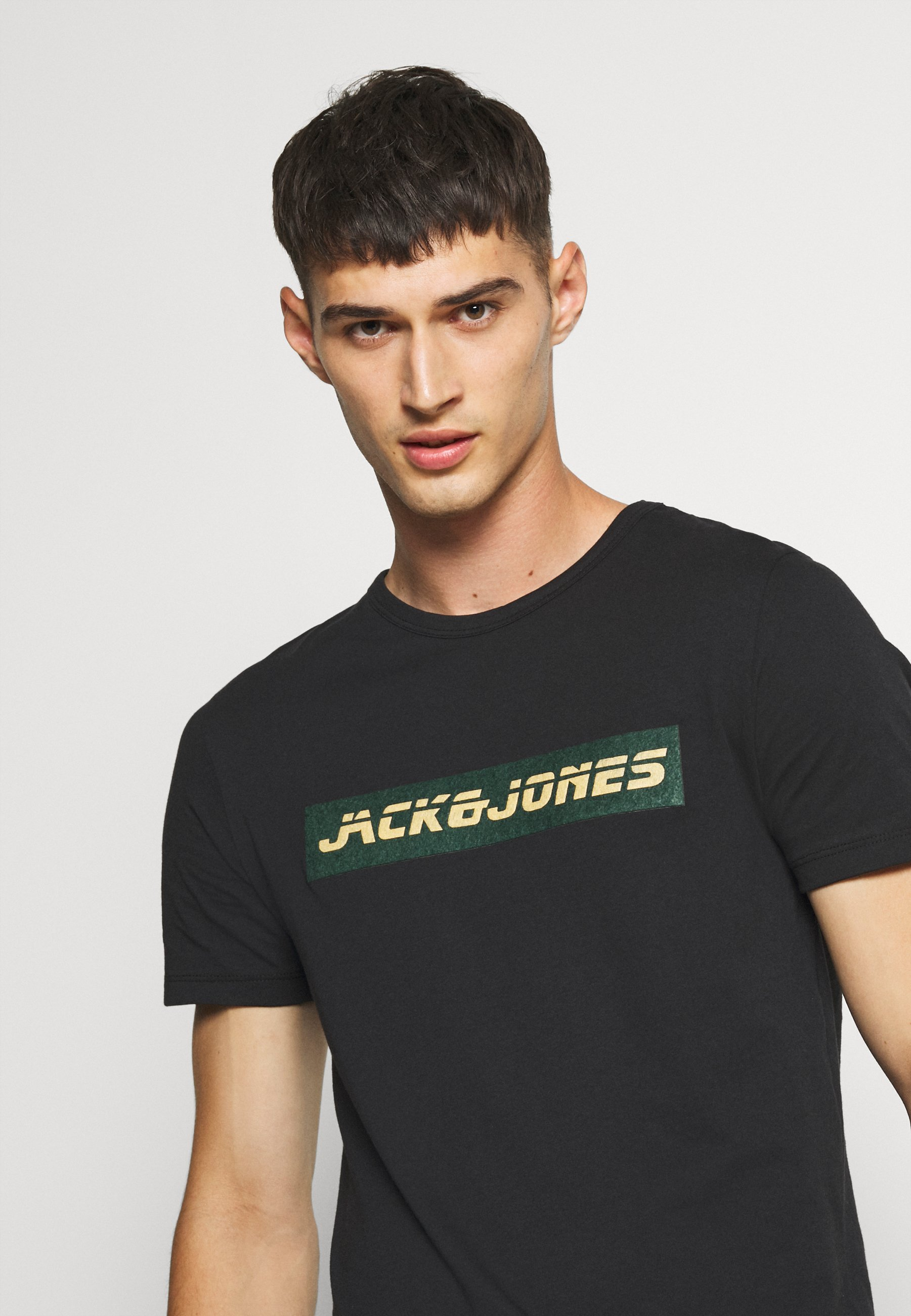 Jack & Jones JCOEDITING - Print T-shirt - black FGDIk