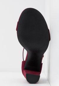 New Look Wide Fit - WIDE FIT TARONA - Sandaler med høye hæler - dark red - 6