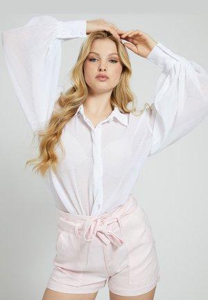 PUFFÄRMEL - Button-down blouse - weiß