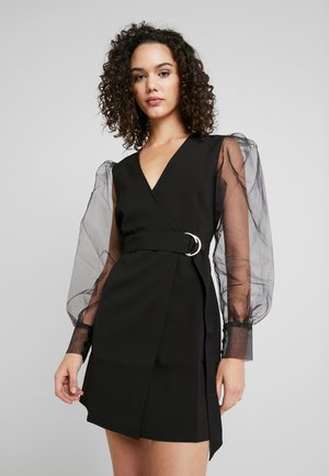 TINA MARIA SLEEVE MINI DRESS - Day dress - black