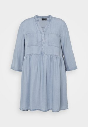 VMLIBBIE LOOSE TUNIC  - Denim dress - light blue denim