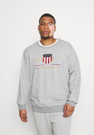 PLUS ARCHIVE SHIELD C NECK - Sweatshirt - grey melange