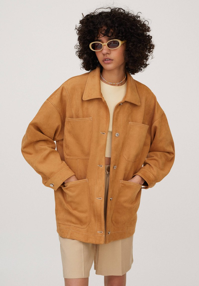 PULL&BEAR - Summer jacket - brown