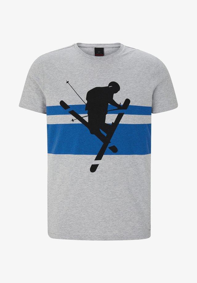FOX - T-shirt imprimé - hellgrau meliert