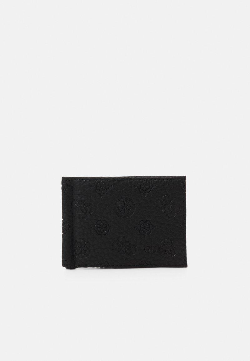 Guess - ELVIS MONEY CLIP CARD CASE - Plånbok - black