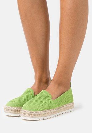 Espadrilky - green