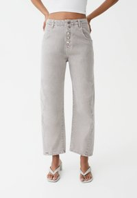 PULL&BEAR - Straight leg jeans - grey - 0