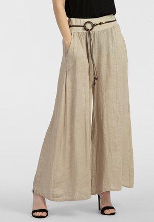 Trousers - beige