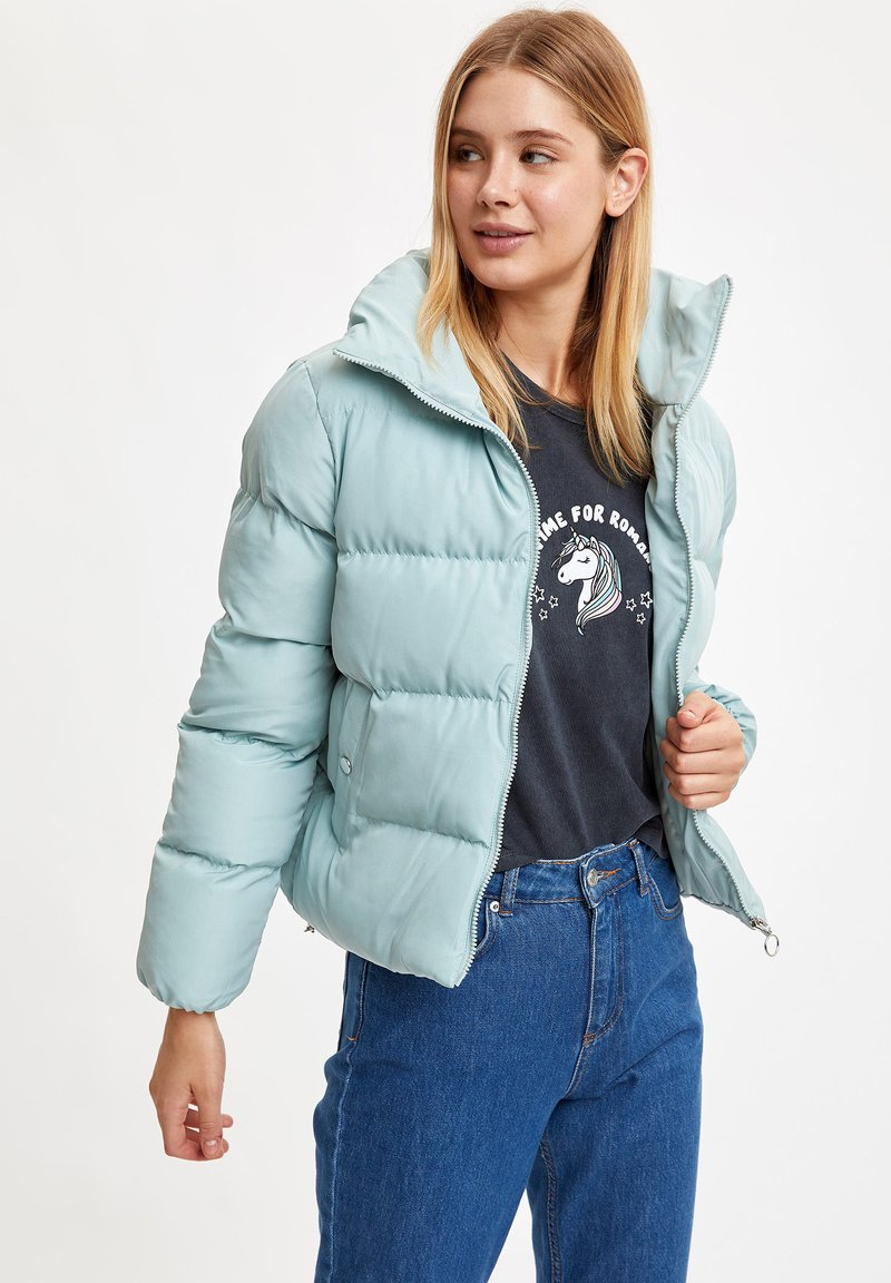 DeFacto Fit - Winter jacket - turquoise