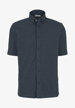 Shirt - blue white base melange
