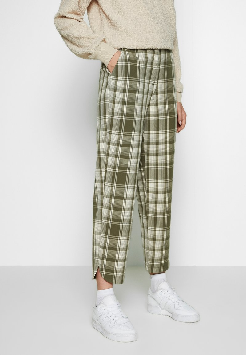 Object Tall - OBJUMA PANT - Kalhoty - burnt olive/gardenia
