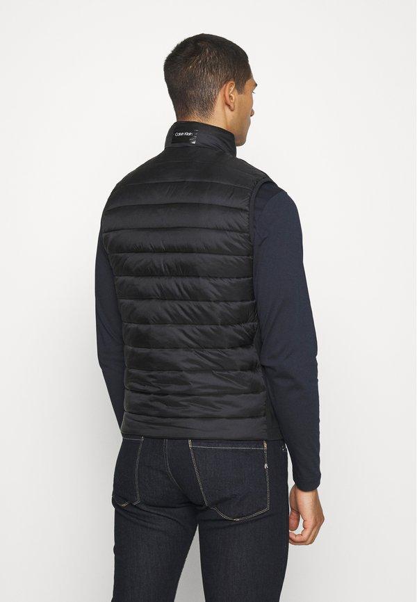 Calvin Klein LIGHT WEIGHT SIDE LOGO VEST - Kamizelka - black/czarny Odzież Męska AXTK