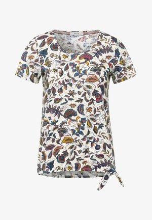 MIT PAISLEY - Print T-shirt - weiß