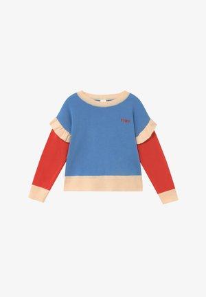 TINY FRILLS CROP  - Jersey de punto - blue/red