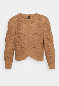 YASHELEN CROPPED  - Strikkegenser - tawny brown