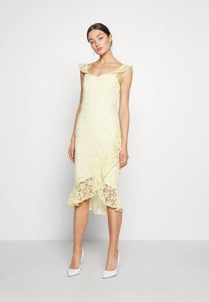 TRUE LOVE DRESS - Sukienka koktajlowa - light yellow
