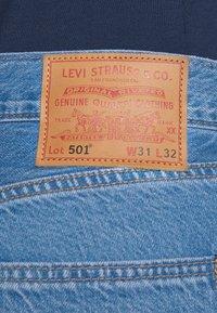 Levi's® - 501 ORIGINAL FIT UNISEX - Jeans a sigaretta - light indigo flat finish - 3