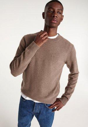 Sweter - dark beige