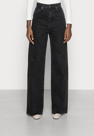 WIDE LEG TALL - Straight leg jeans - washed black