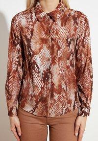 Trendyol - Button-down blouse - brown - 3