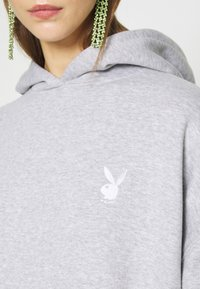 Missguided - PLAYBOY COWGIRL OVERSIZED HOODY DRESS - Vestido informal - grey - 5