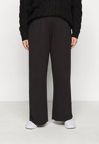 CAPSULE by Simply Be - STRAIGHT LEG TROUSER REGULAR 2 PACK - Trousers - black/grey - 3