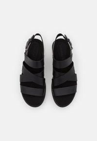 Timberland - SAFARI DAWN STRAP - Platform sandals - black - 4