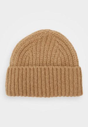 KNITTED HAT - Czapka - honey