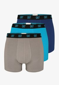 Cristiano Ronaldo CR7 - CRISTIANO RONALDO BASIC RETROSHORTS 3-PACK - Pants - blue.dark blue/grey - 0