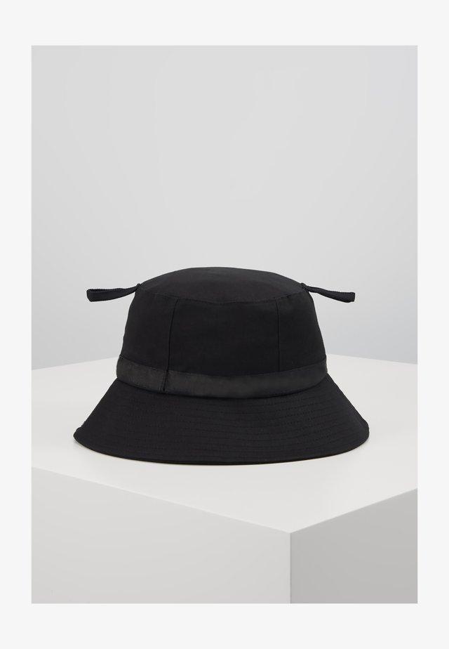 LOGO BUCKET HAT - Hoed - black/black