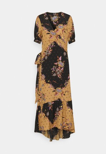 PRINTED DRESS WITH V-NECK - Day dress - combo m