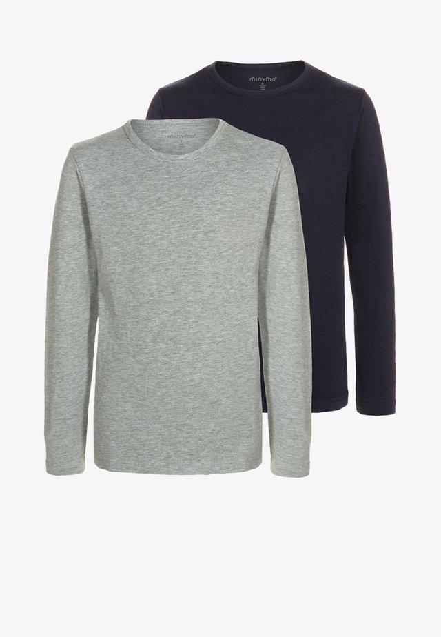 2 PACK - T-shirt à manches longues - dark navy