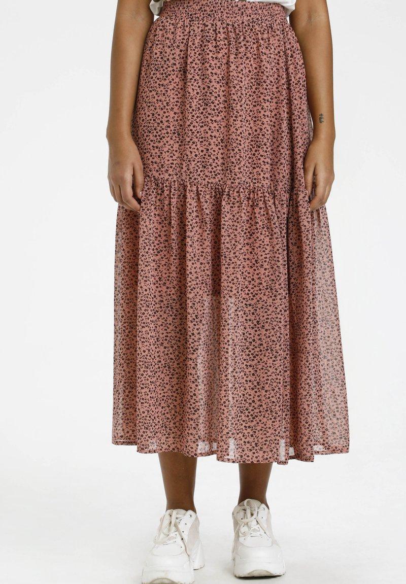 Kaffe - BPFILUA - A-line skirt - old rose with black flowes