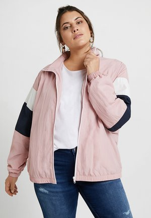 LADIESCRINKLE TRACK  - Veste coupe-vent - darkrose/navy/white