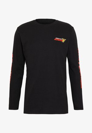 GUNDAM LONG SLEEVE CUFF TEE - Long sleeved top - black